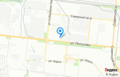 Местоположение на карте пункта техосмотра по адресу г Новосибирск, ул Петухова, д 69