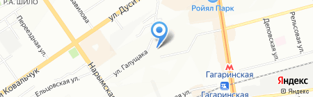 Дубрава на карте Новосибирска