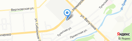 АМТ на карте Новосибирска