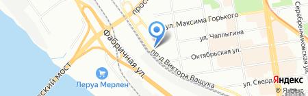 Титул на карте Новосибирска