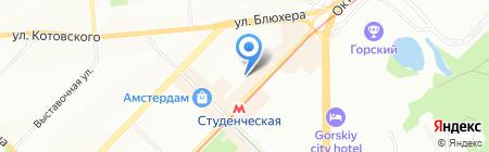 Мишель на карте Новосибирска