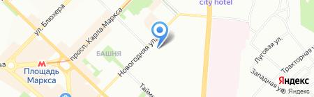 Президент на карте Новосибирска