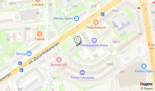 Дизайн-Кабинет. Схема проезда в Новосибирске