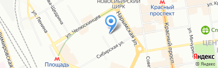 РФК на карте Новосибирска