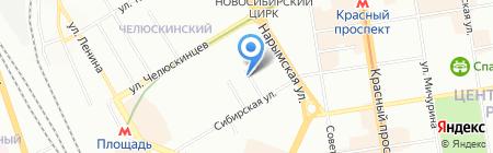 Шелдем-Сибирь на карте Новосибирска