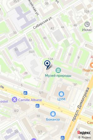 ТРАНСПОРТНО-ЭКСПЕДИТОРСКАЯ ФИРМА РАТЭК на карте Новосибирска