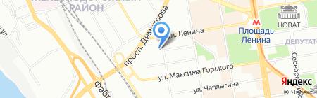 Красный факел на карте Новосибирска