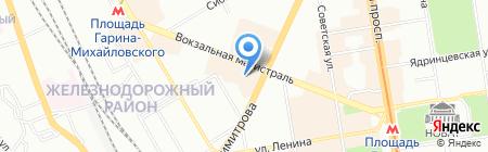Новый Материк на карте Новосибирска