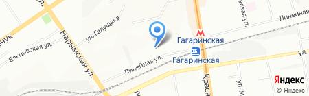 Галс на карте Новосибирска