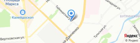 Техкомплект на карте Новосибирска