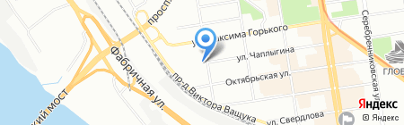 Новолит на карте Новосибирска