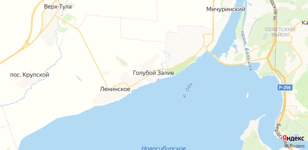 Голубой Залив на карте