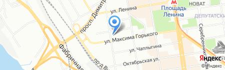 Модус на карте Новосибирска