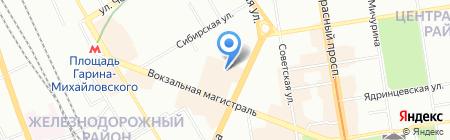 Надежда-ст на карте Новосибирска