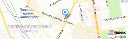 Грузинская кухня на карте Новосибирска