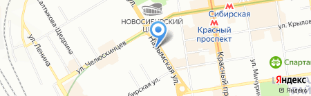 Галланск на карте Новосибирска