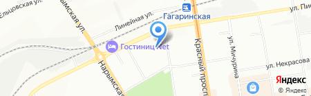 Вертикаль на карте Новосибирска