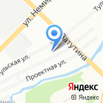 Джип 4х4 на карте Новосибирска