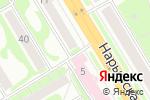 Схема проезда до компании Элкотел в Новосибирске
