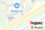 Схема проезда до компании АВТО154.РФ в Новосибирске