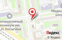 Схема проезда до компании Гарантпресс в Новосибирске
