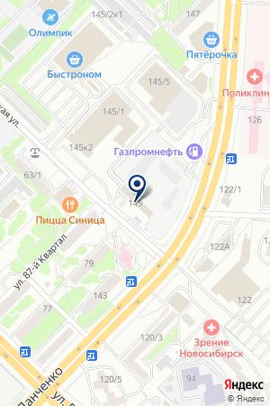 ТРАНСПОРТНО-ЭКСПЕДИТОРСКАЯ КОМПАНИЯ ОЛИМП на карте Новосибирска