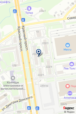 ТРАНСПОРТНО-ЭКСПЕДИТОРСКАЯ КОМПАНИЯ ФОРТУНА-Н на карте Новосибирска