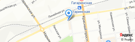 Diamond на карте Новосибирска