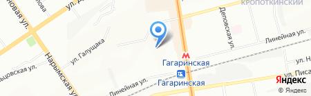 Детский сад №101 на карте Новосибирска