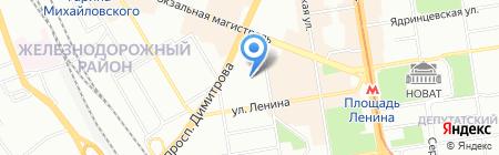 Детский сад №164 Золотой петушок на карте Новосибирска