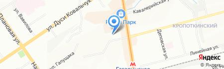 De Luxe на карте Новосибирска