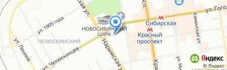 Первое на карте Новосибирска