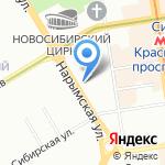 Флорес Новосибирск на карте Новосибирска