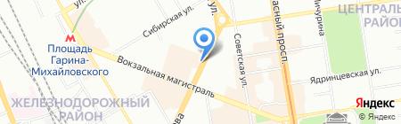 Шашлычок на карте Новосибирска