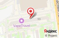 Схема проезда до компании Белая Полоса в Новосибирске