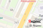 Схема проезда до компании Сибирские градостроительные проекты в Новосибирске