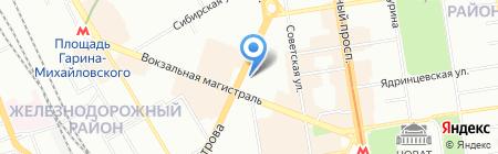 Копилка на карте Новосибирска
