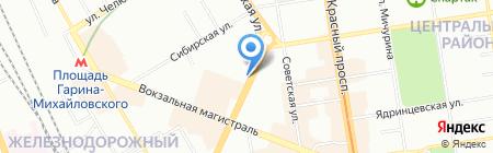Азимут Права на карте Новосибирска