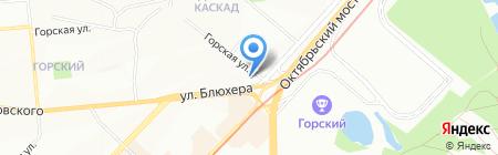 Первый Комиссионный на карте Новосибирска
