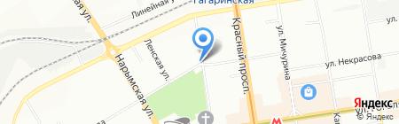 Интертул на карте Новосибирска