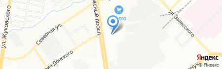 Восточный уголок на карте Новосибирска