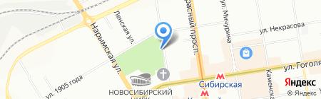 Зазеркалье на карте Новосибирска