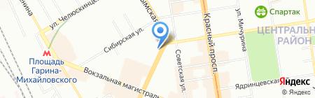 Вира на карте Новосибирска