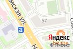 Схема проезда до компании Черника в Новосибирске