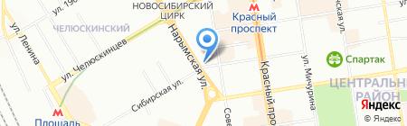Хирш на карте Новосибирска