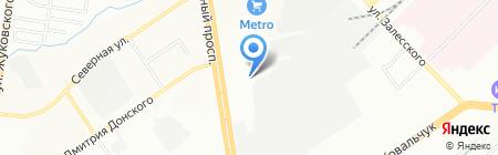 Компас на карте Новосибирска