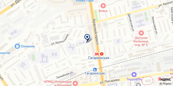 Сеть ремонтных мастерских на карте Новосибирске