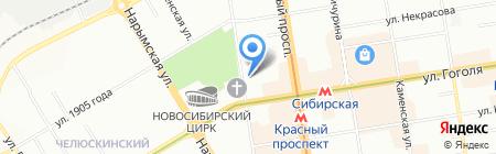 ФальКо на карте Новосибирска