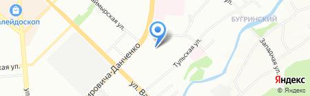 Ривьера на карте Новосибирска