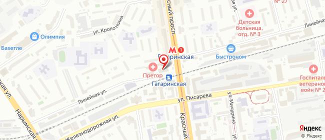 Карта расположения пункта доставки Новосибирск Красный в городе Новосибирск
